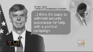 Former U.S. Diplomat In Ukraine Testifies In Impeachment Inquiry [Video]