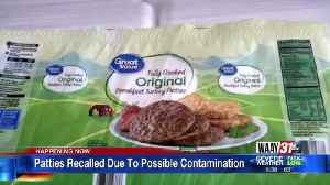 Patties Recalled Due to Possible Contamination [Video]