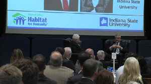 Indiana's governor makes a stop at Indiana State University [Video]