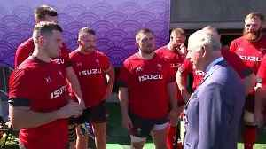Prince Charles meets the Welsh rugby union squad in Japan [Video]