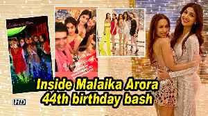 News video: Inside Malaika Arora 44th birthday bash | Kareena Kapoor, Janhvi Kapoor attend