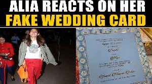 Alia reacts to the paparazzi on news of her fake wedding card, video goes viral   OneIndia News [Video]