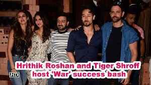 Hrithik Roshan and Tiger Shroff  host 'War' success bash [Video]