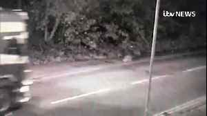 CCTV videos show lorry on road before discovery of bodies [Video]