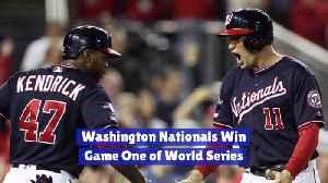 Washington Nationals Take Game 1 [Video]