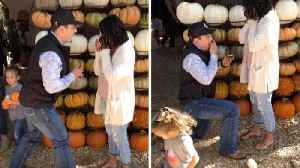 AWKWARD MOMENT BOYFRIEND ACCIDENTALLY TRIPS UP LITTLE GIRL AS HE GETS DOWN ON ONE KNEE TO PROPOSE [Video]