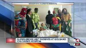 Superheros visit Golisano's Children's Hospital [Video]