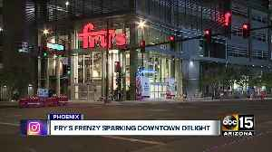 Fry's frenzy sparking downtown delight [Video]