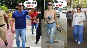 Salman Khan, Shah Rukh Khan, Deepika Padukone and Stars step out to VOTE !Maharashtra elections 2019 [Video]