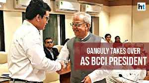 Former Indian cricket captain Sourav Ganguly takes charge as BCCI President [Video]