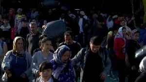 Migrants from overcrowded Greek Island camps transferred to country's mainland [Video]
