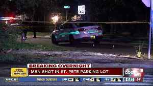 News video: 23-year-old man fighting for life after being shot in St. Petersburg parking lot