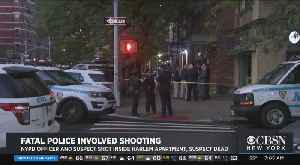 NYPD Officer Wounded, Suspect Killed In Harlem Shooting [Video]