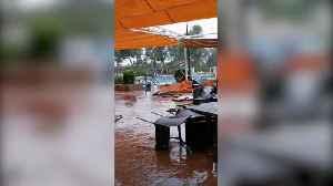 Heavy wind and rain sweeps through Ibiza causing tornado fears [Video]