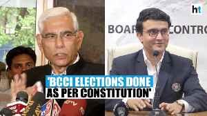 BCCI elections done as per constitution: CoA Vinod Rai [Video]