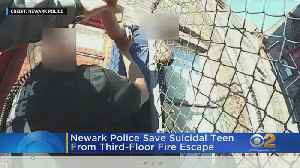 Officers Rescue Distraught 13-Year-Old Boy Threatening To Jump From Newark Building [Video]