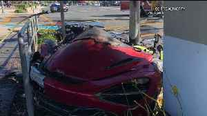 Driver Dead After McLaren Crashes Into Light Pole, Catches Fire in SoCal [Video]