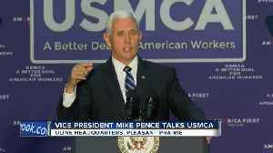 Vice President Mike Pence talks trade policy in Pleasant Prairie [Video]