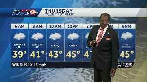 Much colder air settles in Thursday [Video]