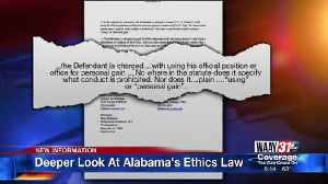 Deeper Look At Alabama's Ethics Law [Video]
