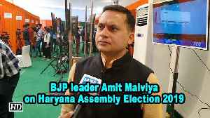 BJP leader Amit Malviya on Haryana Assembly Election 2019 [Video]