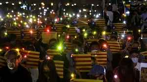 Hong Kong protesters rally for Catalan independence [Video]