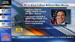 Gov. DeSantis supports paying college athletes for use of name [Video]