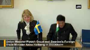 Piyush Goyal meets Sweden Foreign Trade Minister in Stockholm [Video]