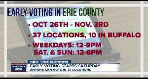 News video: Everything you need to know about early voting in Erie County