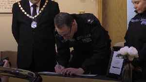 Lorry trailer deaths: Essex Police sign book of condolence [Video]