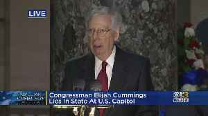 Mitch McConnell Talks About Elijah Cummings' Legacy [Video]