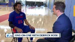 News video: One-on-one with Derrick Rose ahead of Pistons home opener