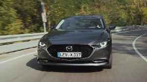 All-New Mazda3 Skyactiv-X Sedan in Machine Grey Driving in Bulgaria [Video]