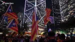 Hong Kong pro-democracy protesters rally in support of Catalan separatists [Video]
