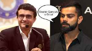 Virat Kohli's Reaction On Sourav Ganguly Becoming The New Chief of Indian Cricket Team BCCI [Video]