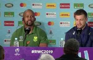 Springbok flyhalf Pollard signals no change to gameplan in semi against Wales [Video]