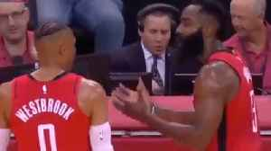 James Harden & Russell Westbrook FIGHT On The Sidelines Signaling Potential DISASTER For Rockets! [Video]