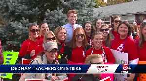Politicians visit Dedham teachers' picket line [Video]