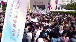 Thousands throng Taipei streets in East Asia's largest Pride march [Video]
