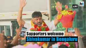Out on bail, DK Shivakumar welcomed by supporters in Bengaluru [Video]