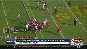 Oklahoma State Upsets #23 Iowa State 34-27 [Video]