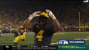 Michigan routs Notre Dame under the lights at the Big House [Video]