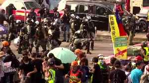 Hong Kong police fire tear gas to disperse protesters [Video]