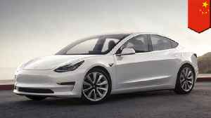 Tesla's Chinese factory begins production of Model 3 cars [Video]