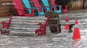 Canada's Port Dover flooded as tropical storm Olga surges [Video]
