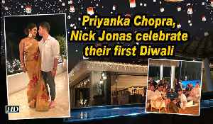 Priyanka Chopra, Nick Jonas celebrate their first Diwali [Video]