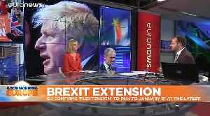 Donald Tusk says EU has agreed to Brexit 'flextension' until January 31, 2020 [Video]