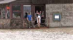 News video: Canada's Port Dover flooded as tropical storm Olga surges
