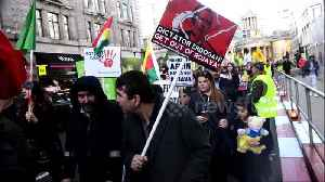 Kurdish community rally in London to protest Turkey's military operation in Syria [Video]