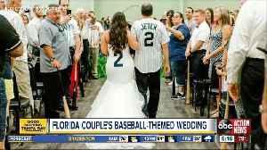 This baseball themed wedding is a home run [Video]